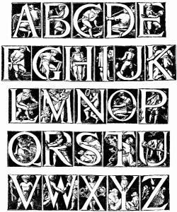 Godfrey Sykes alphabet