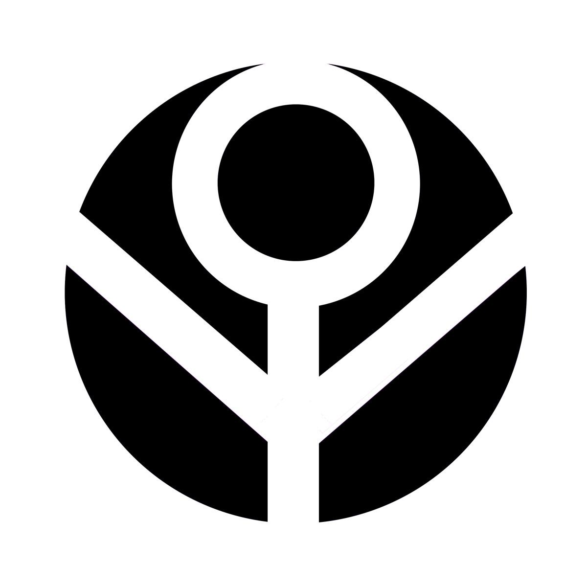 Female Power Symbol 2 B W
